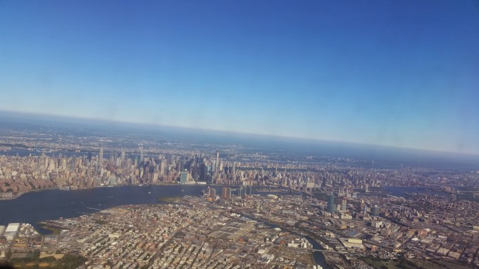 Flying in to NY
